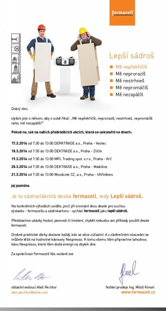 Předváděcí akce Fermacell – lepší sádroš startuje 17. března v Praze a v průběhu tří měsíců navštíví 60 prodejen stavebnin