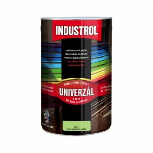 Industrol S2013 univerzál lesk vrchní barva na kov a dřevo, 5014 zeleň pastelová světlá, 4 l