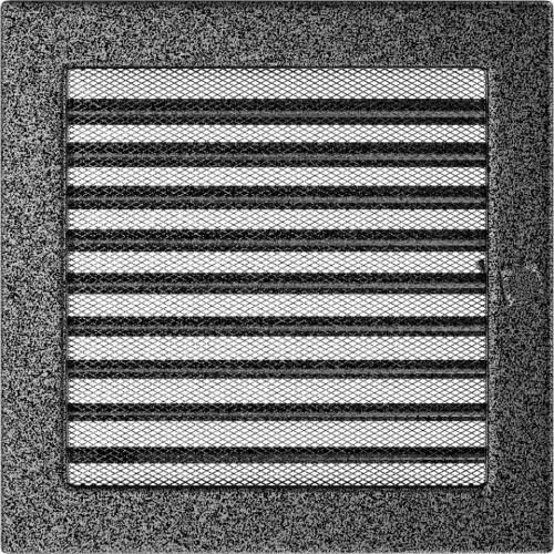 Krbová mřížka 22x22 BASIC staré stříbro s žaluzií