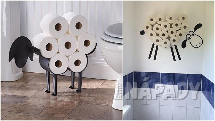 Toaletní papír: ovečky na stěnu i na podlahu