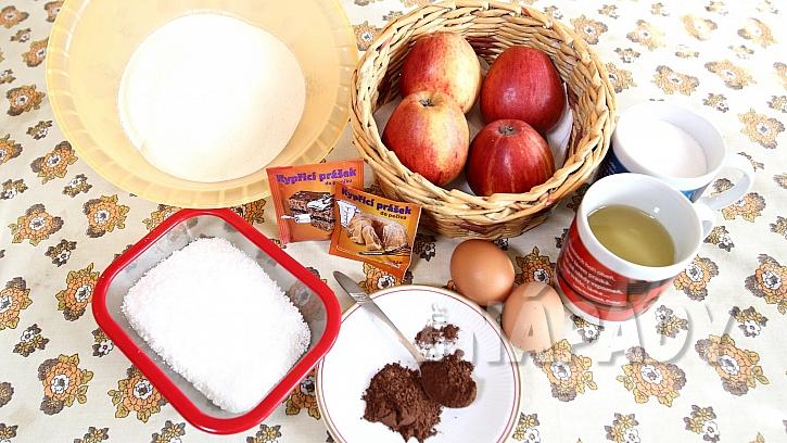 Perník se strouhanými jablky a kokosem: suroviny
