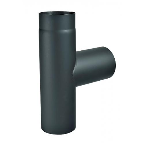 Kouřovod T- kus 200mm (2) černý