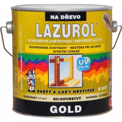 Lazurol Gold S1037 silnovrstvá lazura na dřevo T000 bezbarvá, 2,5 l
