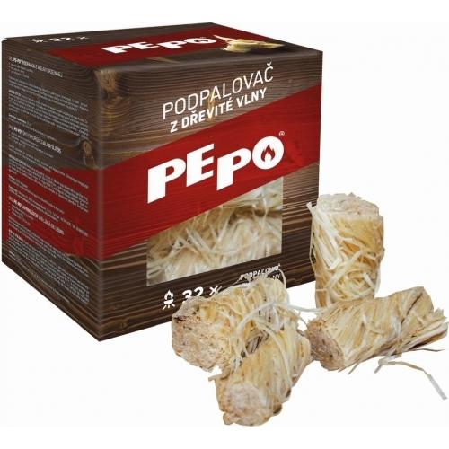 PE-PO podpalovač z dřevité vlny
