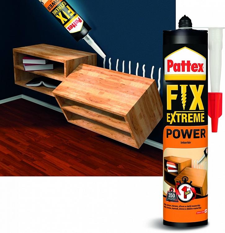 Pattex FIX Extreme lepí extrémní silou extrémně rychle!