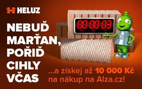 Poslední měsíc akce společnosti HELUZ a obchodu Alza.cz