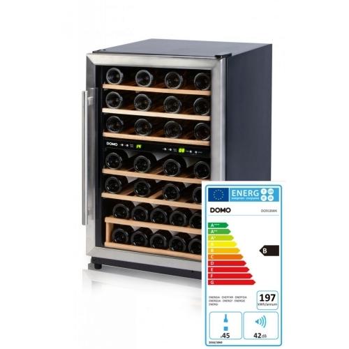 Domácí vinotéka na 45 lahví - dvouzónová - DOMO DO918WK