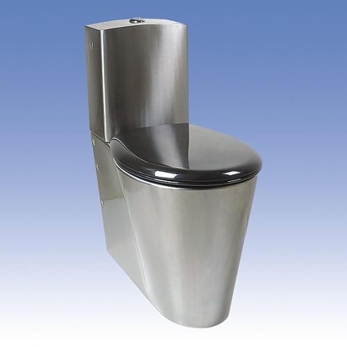 SANELA Nerezové kombi WC SLWN 16 pro tělesně handicapované, spodní přívod vody