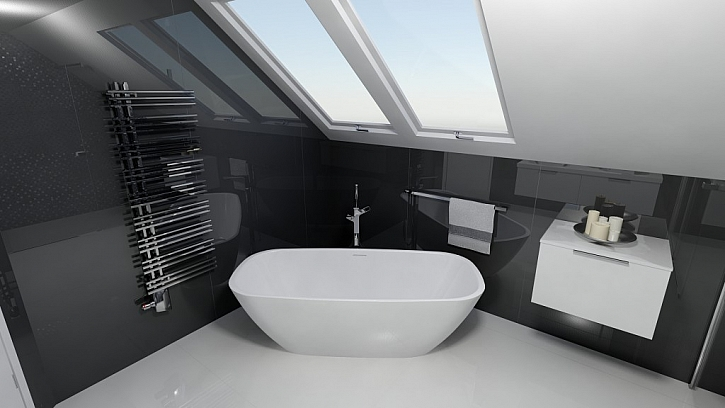 Inspirace pro koupelny - 1. díl - 20 nejlepších návrhů koupelen s designovými radiátory Zehnder