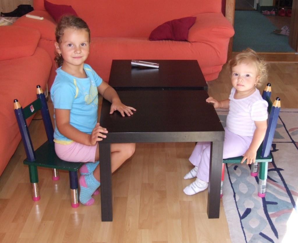 Opravená stolička pro děti