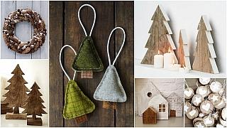 Vánoce ve stylu natur: Přírodní materiály ačisté tvary