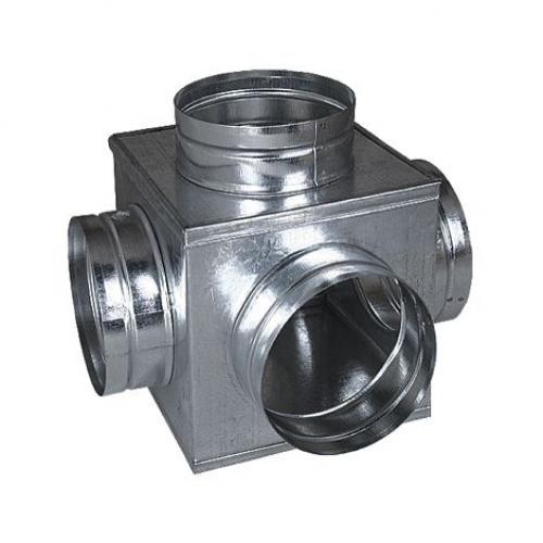 Rozbočovací skříňka  160/4x125 mm (krychle), pozink