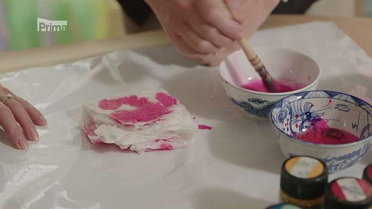 První nanesení barvy.