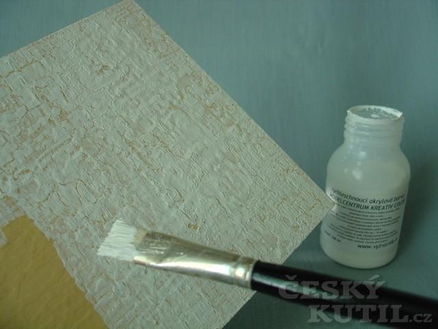 Levandulový obrázek starého vzhledu – výtvarné techniky dekupáž a krakeláž