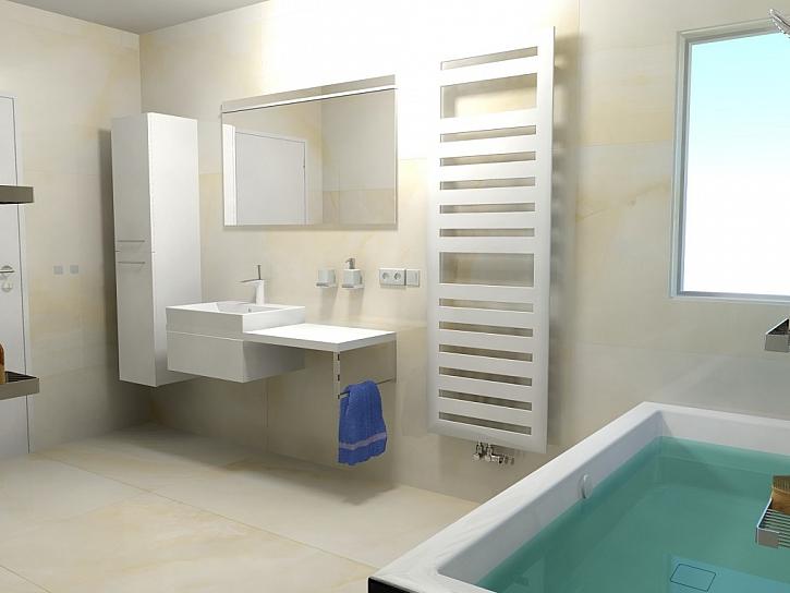 Inspirace pro koupelny - 20 nejlepších návrhů koupelen s designovými radiátory Zehnder - 2. díl