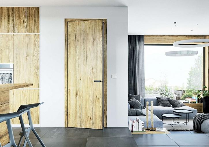 Dub Sherwood v kombinaci s dveřmi modelové řady Elegant, která patří k jedné z nejuniverzálnějších a nejoblíbenějších modelovým řadám SAPELI. Dveře Elegant nabízejí jednoduchý a čistý vzhled vhodný do moderních interiérů