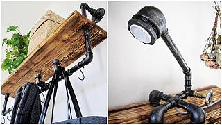 Umělci proměňují vodovodní trubky v osobitou součást interiéru: Industriální styl