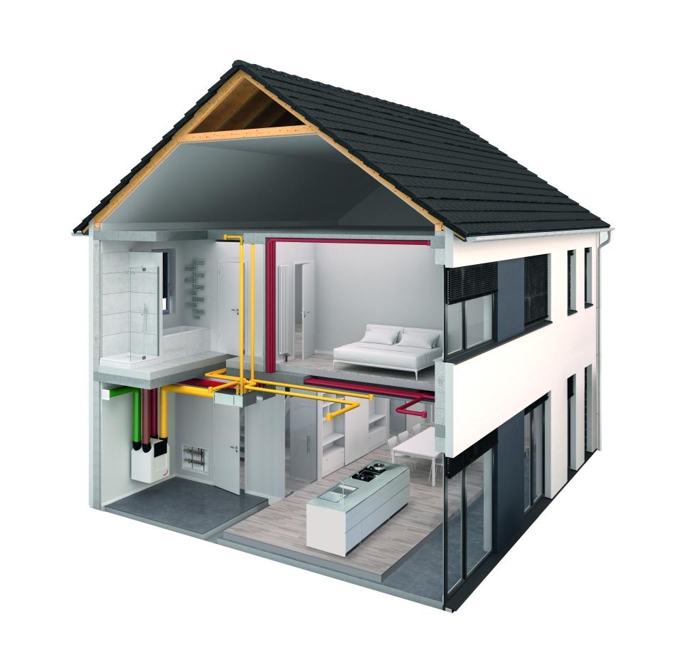 1. Praktický příklad větrání s rekuperací – Rodinný dům