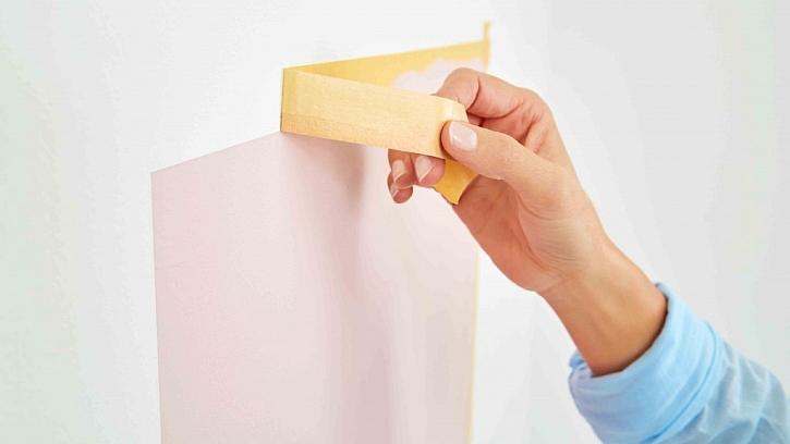Postup použití maskovací pásky: