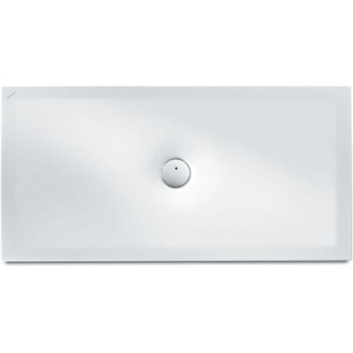 LAUFEN INDURA ocelová sprchová vanička, 80 x 140 cm, bílá + Antislip, s protihlukovou izolací 2.1507.6.600.040.1