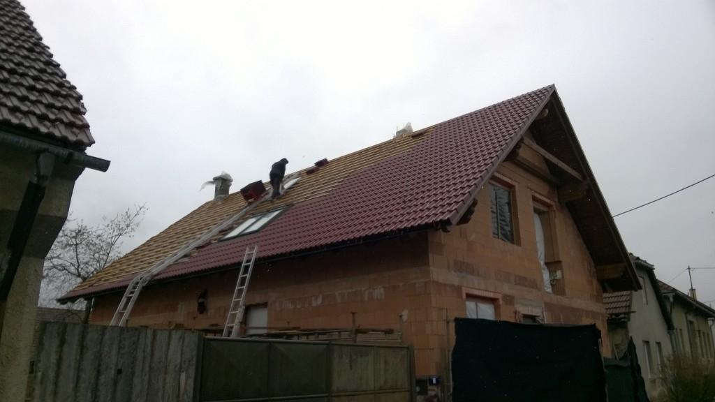 Realizace nadkrokevní izolace rodinného domu v Radostíně nad Oslavou