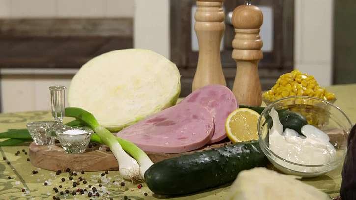 Suroviny na přípravu salátu
