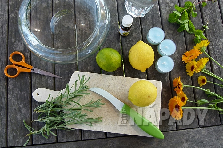 Dekorační miska s citrusy