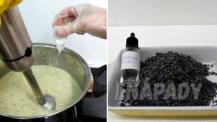 Recept na domácí bylinkové mýdlo: nakonec přidejte do hmoty bylinky
