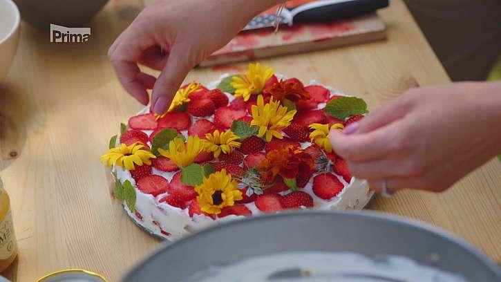 Narozeninový nepečený dort