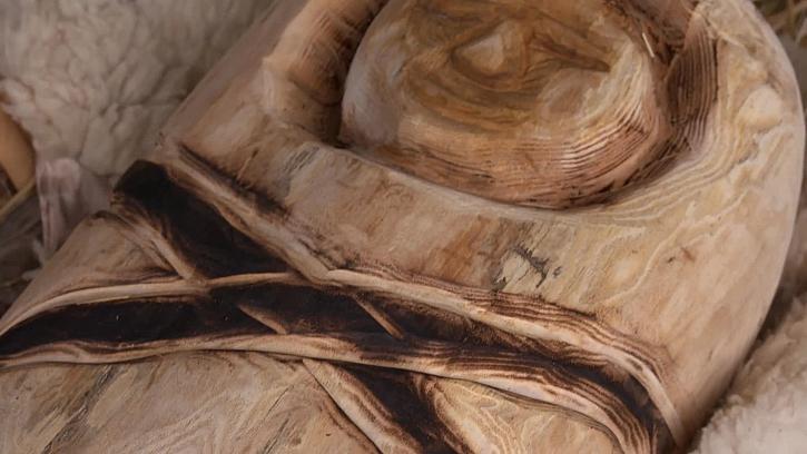 Dřevěný Ježíšek