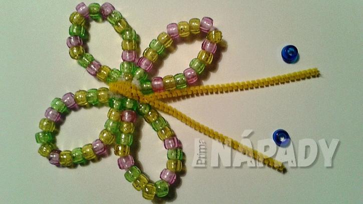Motýl z korálků: vytvořte tykalda