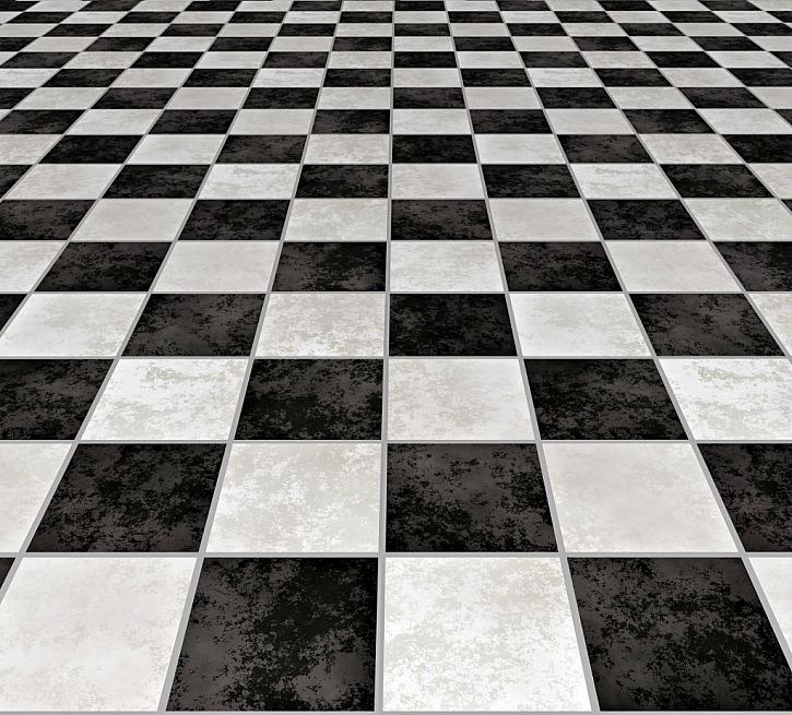 Barevně odlišená šachovnicová mozaika vypadá velmi zajímavě