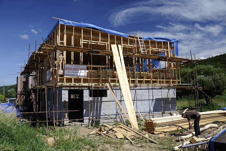 Pohled na konstrukci dřevostavby