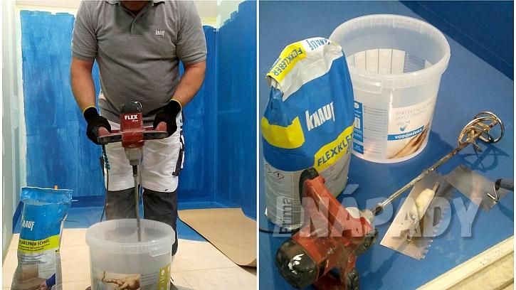 Hydroizolace koupelny: lepidlo, pomůcky a míchání lepidla