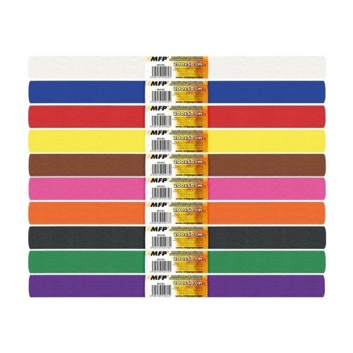 MFP krepový papír role 50 x 200 cm mix barev 10 ks základní