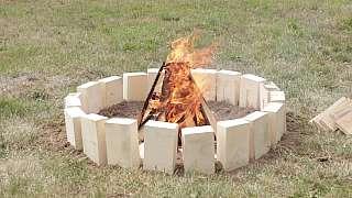 Na stavbu tohoto ohniště nepotřebujete téměř nic! Stačí vám jen pár cihel