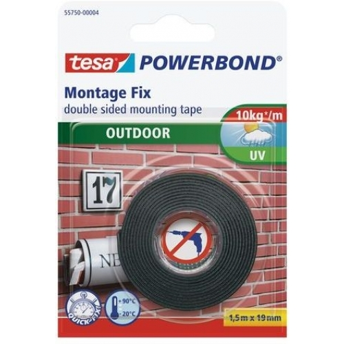 TESA Powerbond Montážní oboustranná pěnová páska pro exteriér, bílá, 1,5m x 19mm