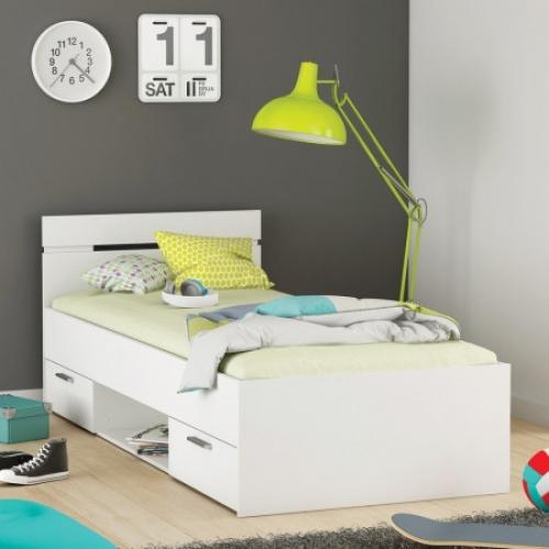 Multifunkční postel 90x200 MICHIGAN perleťově bílá, IDEA nábytek