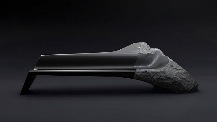 Sedačku z onyxu a uhlíkových vláken navrhli designéři z laboratoří Peugeotu.  Foto: peugeotdesignlab.com