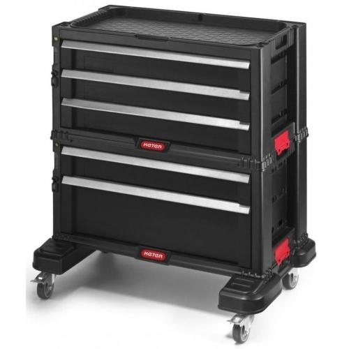 KETER box na nářadí - 5 zásuvek black/red