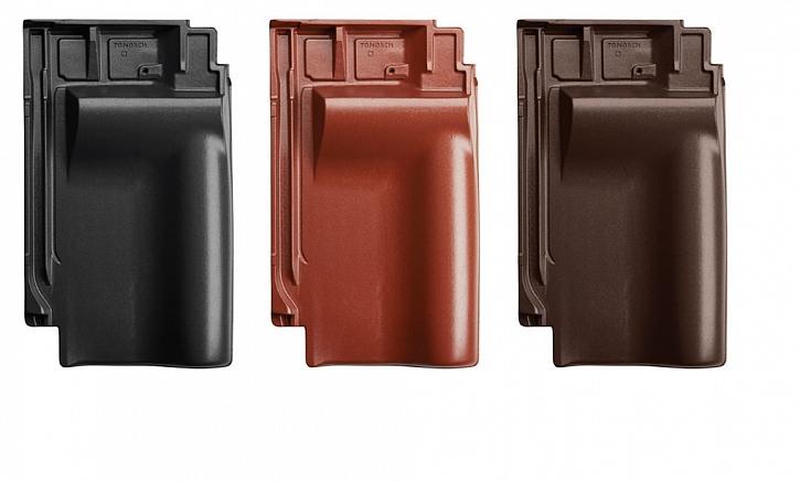 Nová doplňková taška Samba 11 - taška větrací pro připojení hřebene v provedení glazura Amadeus černá, červená a hnědá. Zajišťuje ještě lepší odvětrání, navíc šetří náklady a perfektně ladí se základní taškou.