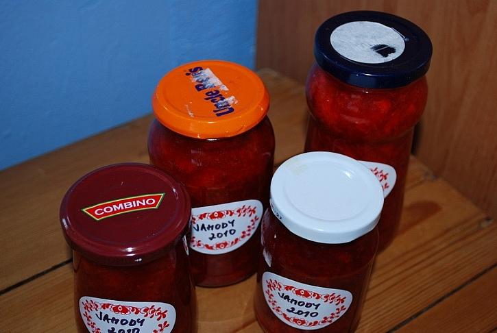 Marmelády s ozdobou
