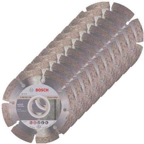 BOSCH Standard for Concrete Diamantový dělicí kotouč, 125 x 22,23 x 1,6 x 10 mm, 10ks
