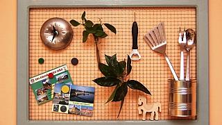 Dekorace DIY: Drátěný závěs na drobnosti v rámečku