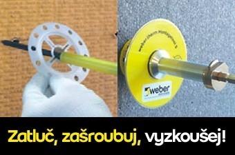 Weber hmoždinky v propracovaném designu: Zatluč, zašroubuj, vyzkoušej!