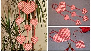 Srdíčkový závěs: Valentýnská dekorace imilý dárek