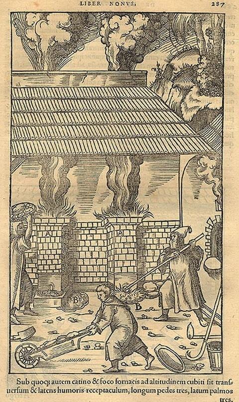 Názorné ilustrace z knihy lékaře Georgia Agricoly (1494 – 1555)