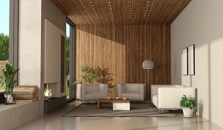 Použitím nástěnných a stropních panelů změníte vzhled místnosti (Zdroj: Depositphotos)