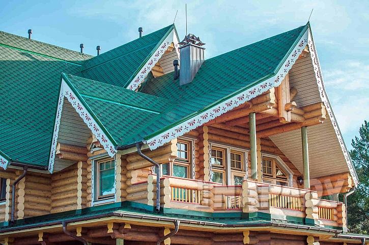 Krajkové lemování střechy