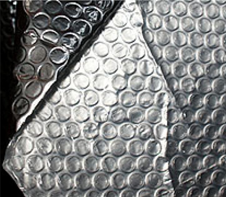 Vzroek č.2 - Alu-folie zlaminovaná se zády bublinkové folie